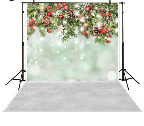 Christmas snow bokeh background photography backdrop
