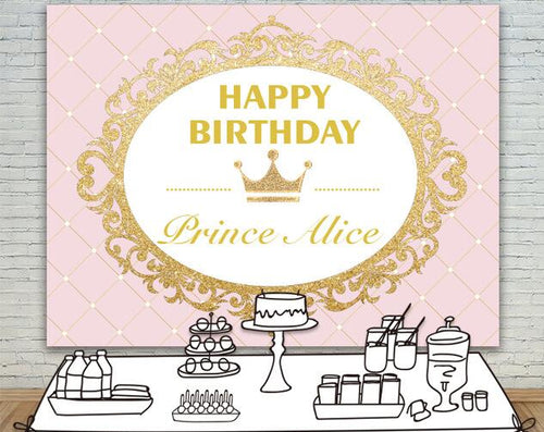Princess Birthday Invitation Party Photography Customized Backdrops