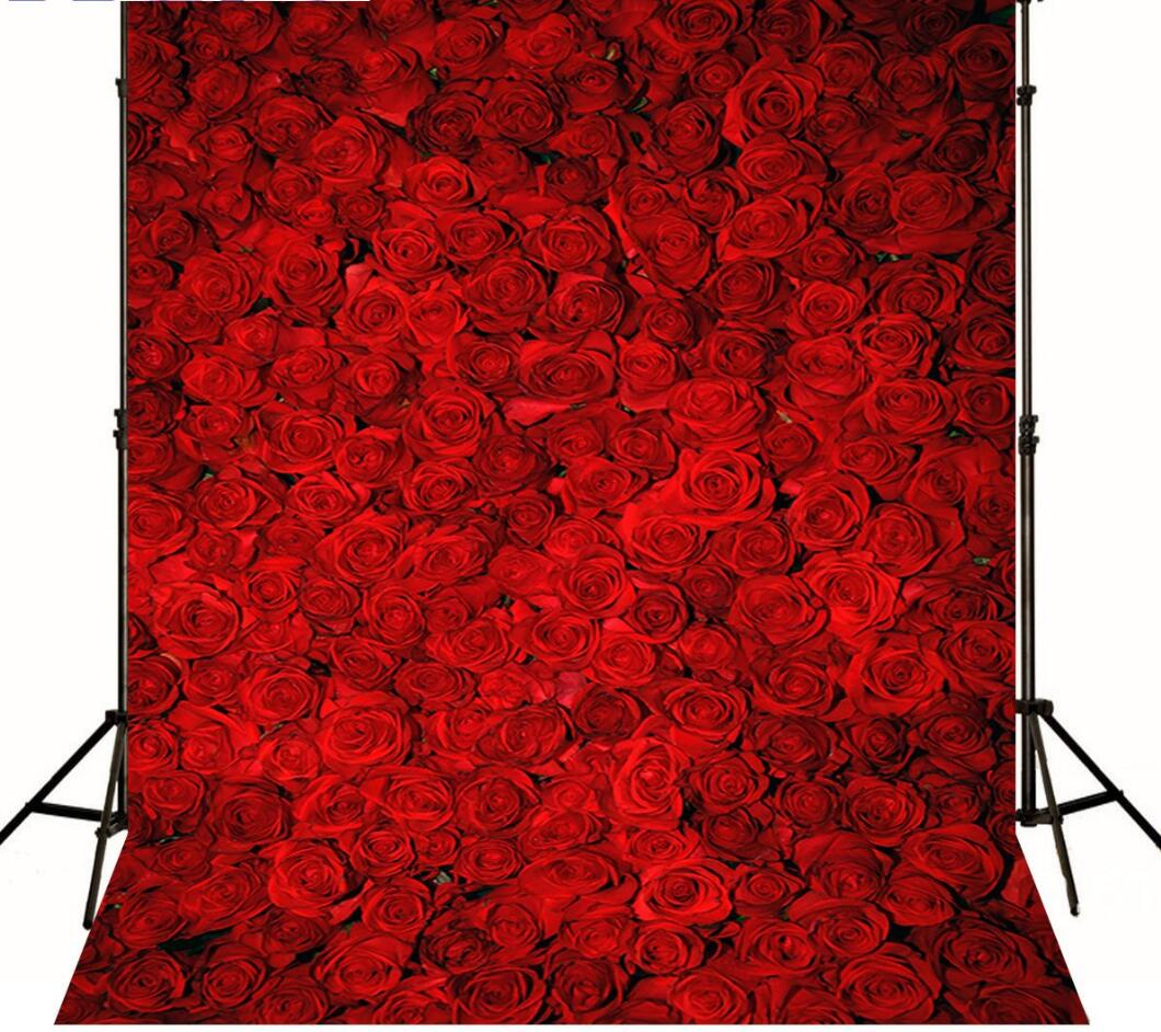 Red rose photography background valentine's day photography backdrop