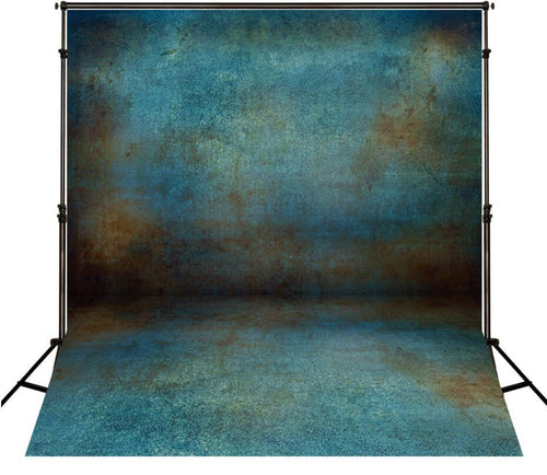 Retro Blue Wall Photo Background Children Photography Backdrop for Photo Studio