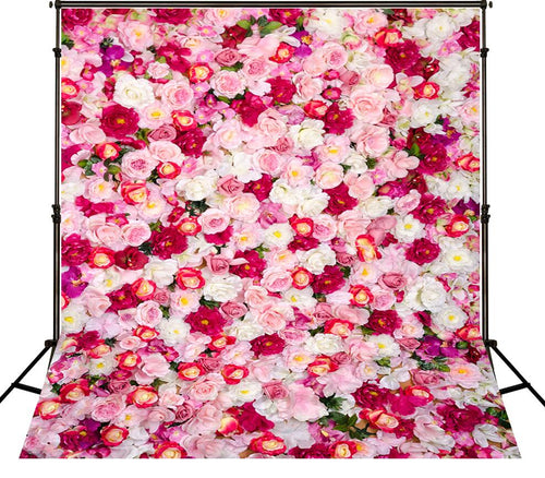 Floral Wall Backgrounds Thick Cloth Valentine's Day Photography Backdrops