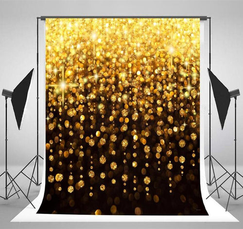 Black & Gold Bling-bling Wedding Photography Backdrops