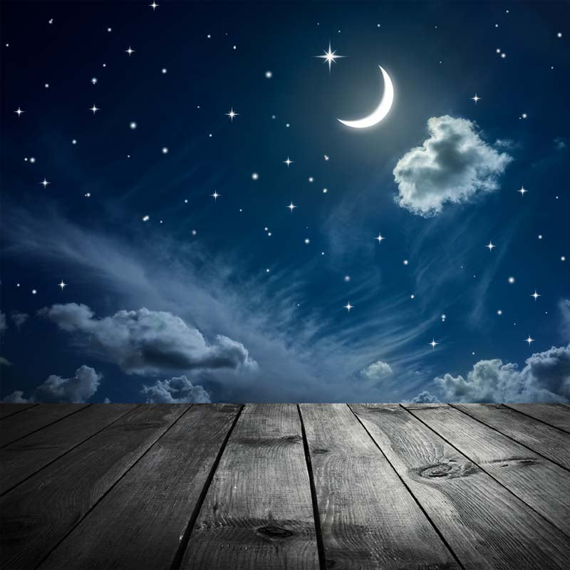 Sky Moon Stars Background Printed photography Backdrop