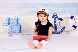 Clouds Sea Backdrop Photography Baby Background for Photo Studio