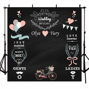 Blackboard Flower Custom DIY Wedding Photography Custom Backdrops
