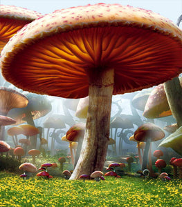 Forest Big Mushroom Backgrounds Thick Cloth Photography Backdrops For Children