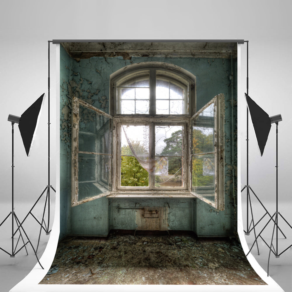 Retro Broken Windows Photography Background Indoor Wedding Photography Backdrops
