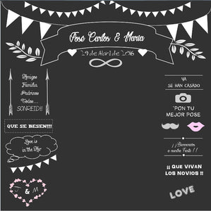 Wedding Blackboard Invitation Signature Photography Background Custom Photo Backdrop