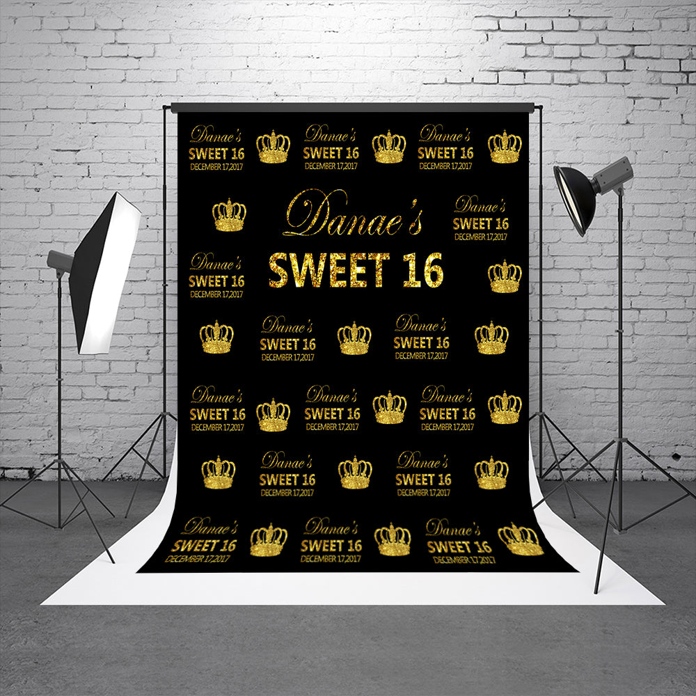 Sweet 16th Birthday Party Backdrops Custom Girl Princess Studio Backdrops