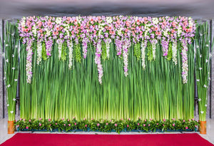 Flower Wall Backgrounds For Photo Studio Wedding Stage and Red Carpet Backdrops