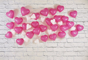 Pink Heart Balloons Backgrounds Children Birthday Party Photography Backdrops