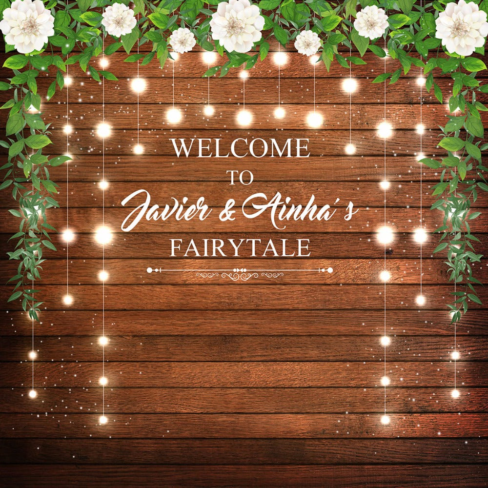 Wood wall party decor celebrate background  photo studio wedding photography backdrop