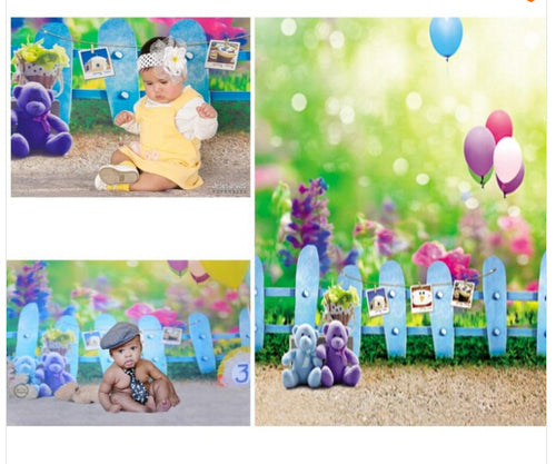 Baby Balloon Fences Background Easter Backdrops Newborn Backdrops For Photo Studio Photography