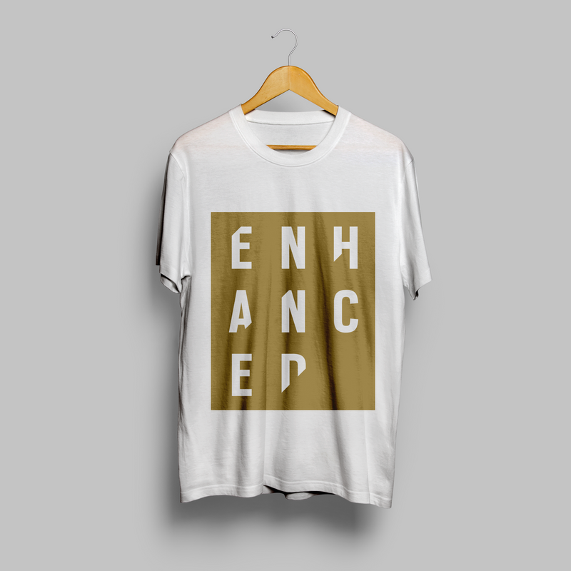 10 Years of Enhanced - Logo Stencil T-shirt - White