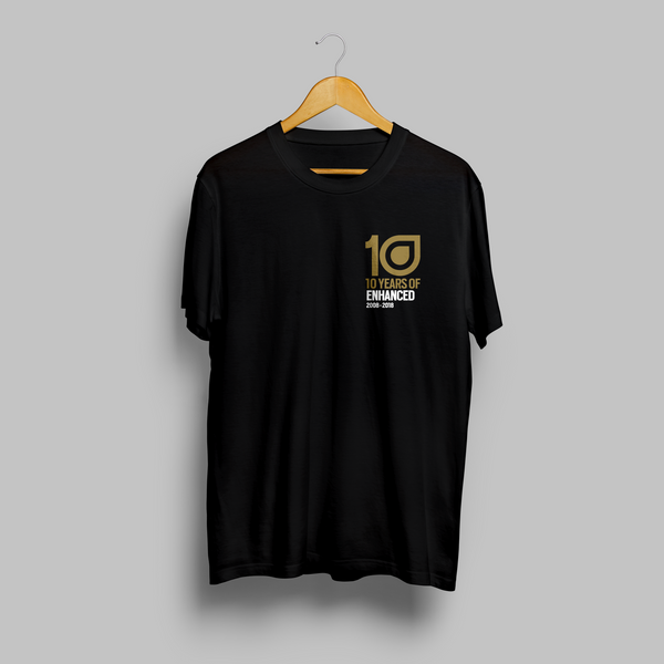 10 Years of Enhanced - Logo T-shirt - Black
