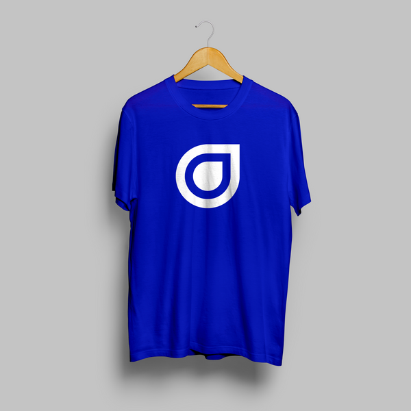 Enhanced Music Logo - Blue T-Shirt