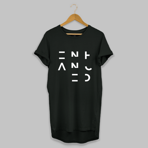 Black 3x3 Enhanced Longline T-shirt