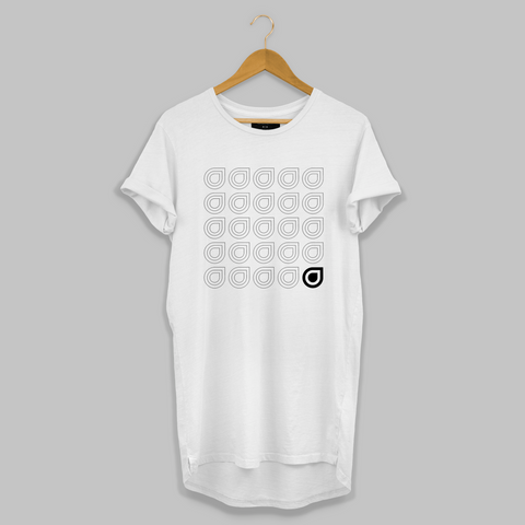 White Repeated Longline T-shirt