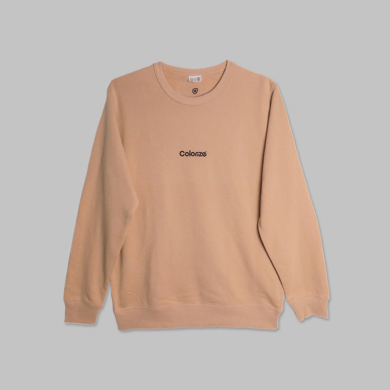 Colorize Logo Sweater in Tan