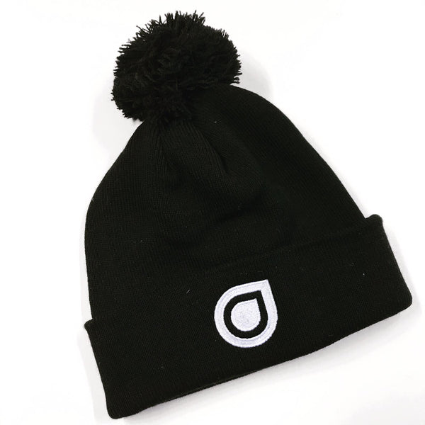 Enhanced Black Bobble Hat