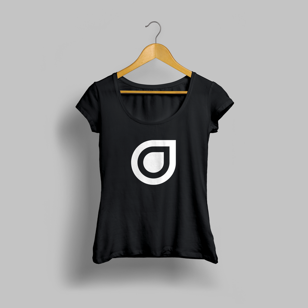 Black Enhanced Teardrop Womens T-shirt
