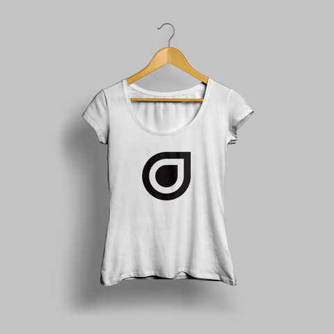 White Enhanced Teardrop Womens T-shirt