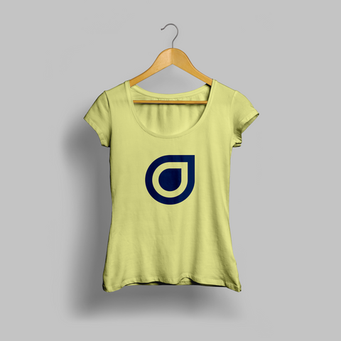 Yellow Enhanced Teardrop Womens T-shirt