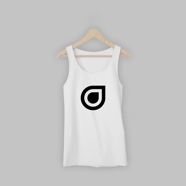 White Enhanced Teardrop Womens Vest