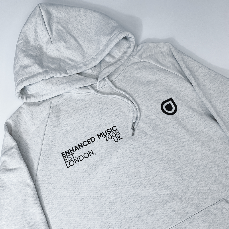 Enhanced Ring Premium Hoodie - Cream Grey