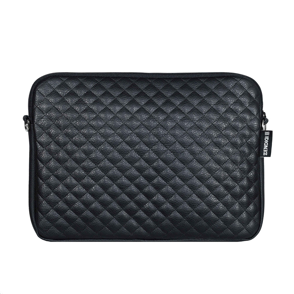 Black Quilt Mountain Laptop Case 13-14