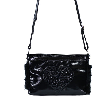 Black heart candy bag