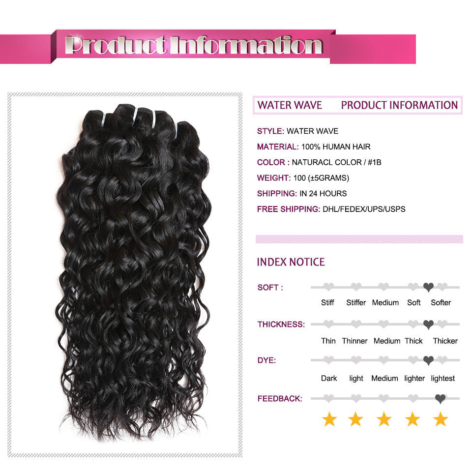 Ishow Hair Water Wave Brazilian Hair for Sale