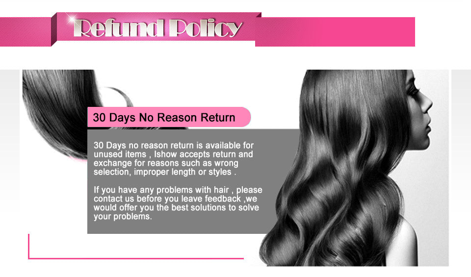 Ishow Peruvian Virgin Hair Loose Wave Unprocessed Extensions 3pcs/lot
