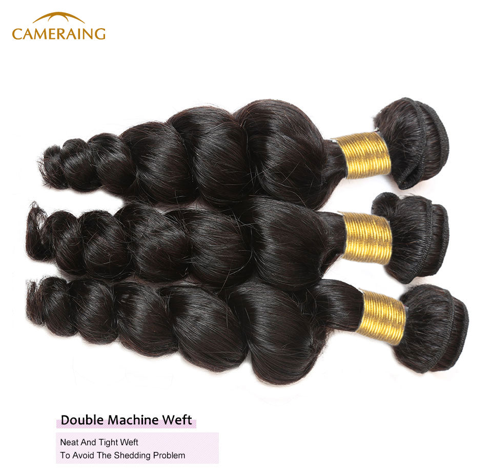 Cameraing Brazilian Human Virgin Hair Loose Wave 4 Bundles 9