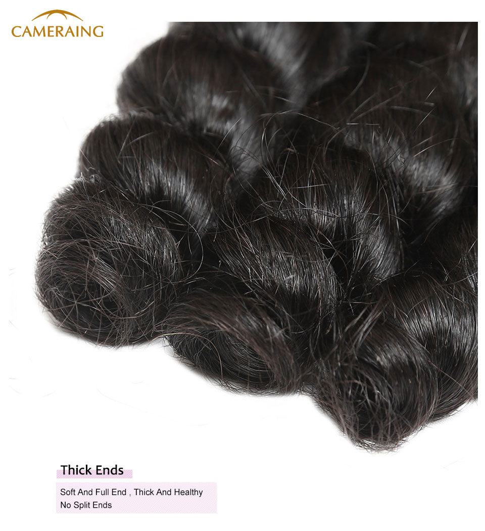 Cameraing Brazilian Human Virgin Hair Loose Wave 4 Bundles 10