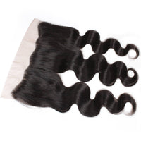 Cameraing Brazilian Human Virgin Hair Body Wave Hair 3 Bundles with Ear to Ear Lace Frontal 5