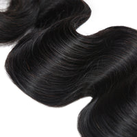 Cameraing Brazilian Human Virgin Hair Body Wave Hair 3 Bundles with Ear to Ear Lace Frontal 6