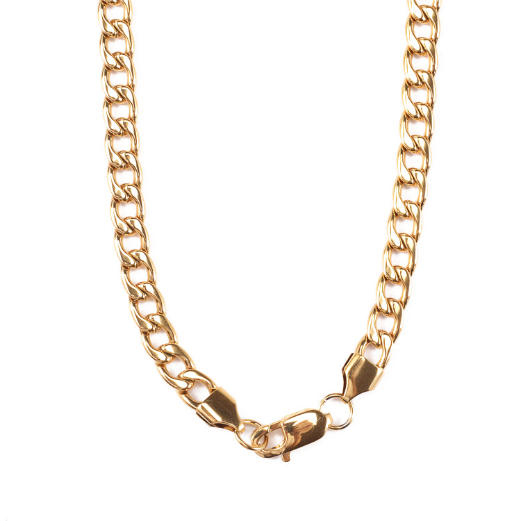 Stainless Steel Gold Chain Hip-pop Necklace Twist Rope for Men Women Jewelry