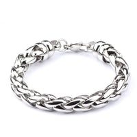 Mens Bracelet Chain 316L Stainless Steel Gold Color Punk Double Curb Cuban Rombo Link