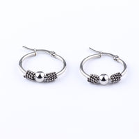 High Polished 316L Stainless Steel Earring Diameter 1.38 inch Luxury Ring Earrings Fashion Jewelry
