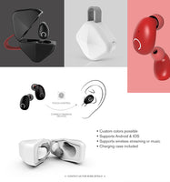 B6 True Wireless Earbuds with Wireless Charging Case IPX8 Waterproof TWS Stereo Headphones in-Ear Built-in Mic Headset Premium Sound with Deep Bass for Sport - glabal-scm