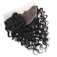 Cameraing Indian Human Virgin Hair Water Wave Hair 3 Bundles with Ear to Ear Lace Frontal 6