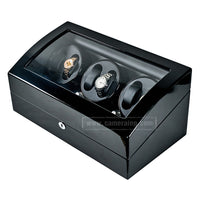 Cameraing Watches Boxes Time Pieces Winder with Japanese Quite Motor 6 Winders and 7 Leather Storage Space