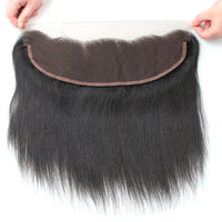 Cameraing Indian Human Virgin Hair Straight Hair 3 Bundles with Ear to Ear Lace Frontal 6