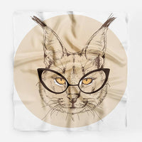 Bobcat Kitten Silk Scarf Cat Silk Square Scarf - glabal-scm