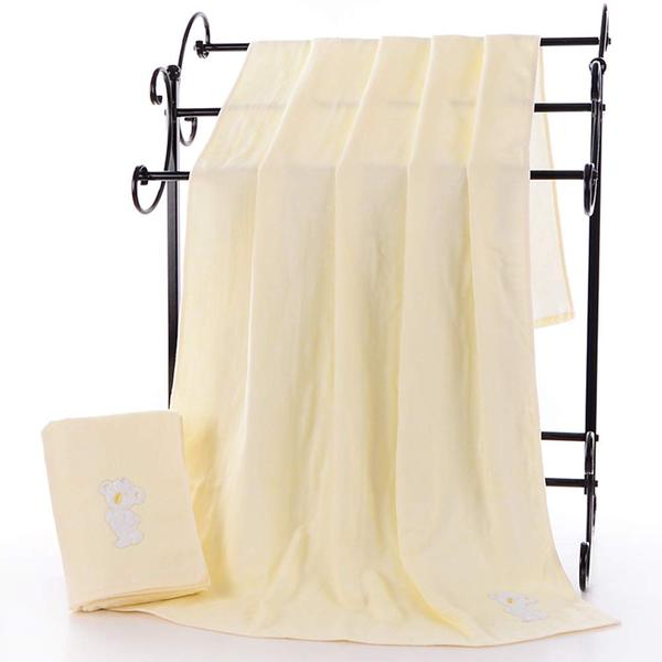 Weiduola Classic Weave Bath Towel, Natural Cotton, Fast Drying Large Bath Sheet - 1 Pack