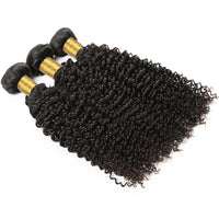 Cameraing Indian Human Virgin Hair Kinky Curly weft with closure 3 Bundles with 4*4 lace closure 4