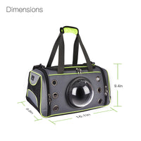 Pet Carrier, Dog and Cat Carrier, Pet Travel Bag with Transparent Breathable Space Capsule Design for Small Dog Cat Kittens Puppies Premium Quality - glabal-scm