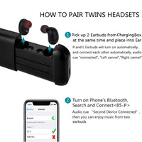 Wireless Bluetooth Earbuds, Mezone Bluetooth Headphones, in-Ear Earbuds with Charging Case Built-in Mic Headset, Super Easy Pair, Premium Sound with Bass for Running Sport - glabal-scm