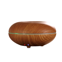Essential Oil Diffuser, 100ml Wood Grain Aromatherapy Diffuser Ultrasonic Cool Mist Aroma Humidifier with Adjustable Mist Mode, Waterless Auto Shut-Off, 7 Color LED Lights